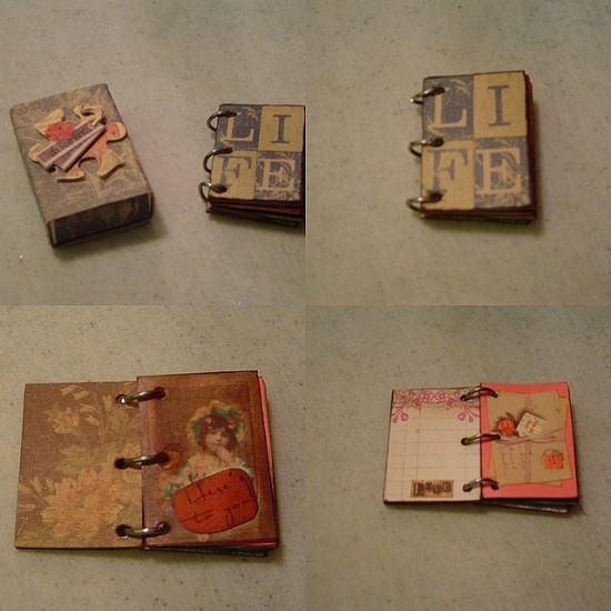 "This sweet little book was made from a matchbox. (redwing480, ""Matchbox Book,"" December 10, 2007, Creative Commons Attribution.)"