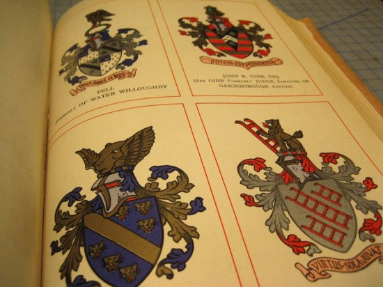 I did rather enjoy looking at the plates for a few minutes. I was especially fond of the coat of arms at the bottom left.