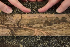 Fore-edge painting, fanned