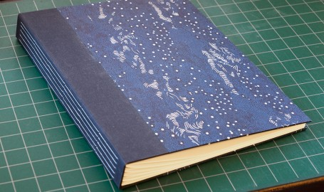 Midnight Landscape long-stitch photo album, cover